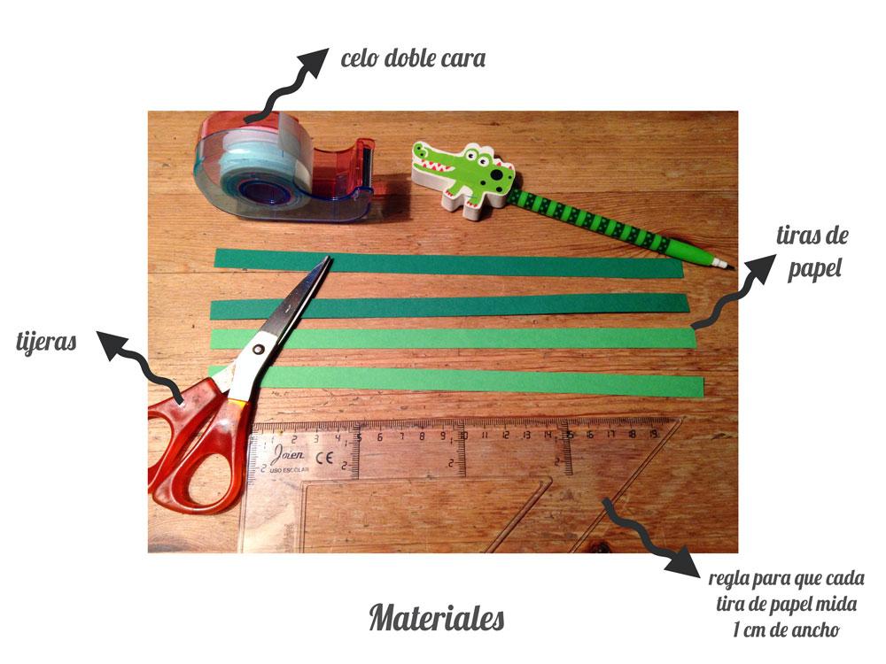 Materiales marcalibros de papel trenzado