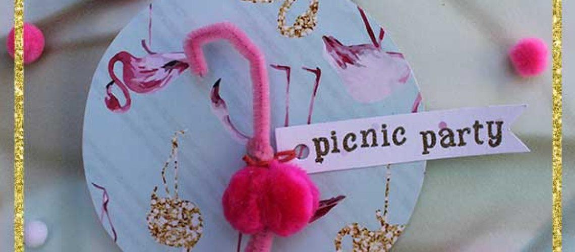 invitación fiesta flamingo rosa